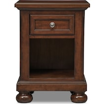 hanover youth cherry bookcase dark brown nightstand