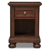 hanover youth cherry bookcase dark brown nightstand