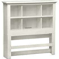 hanover youth white bookcase white  pc full bedroom