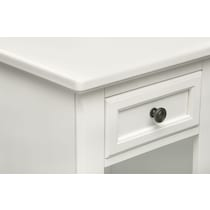 hanover youth white bookcase white nightstand