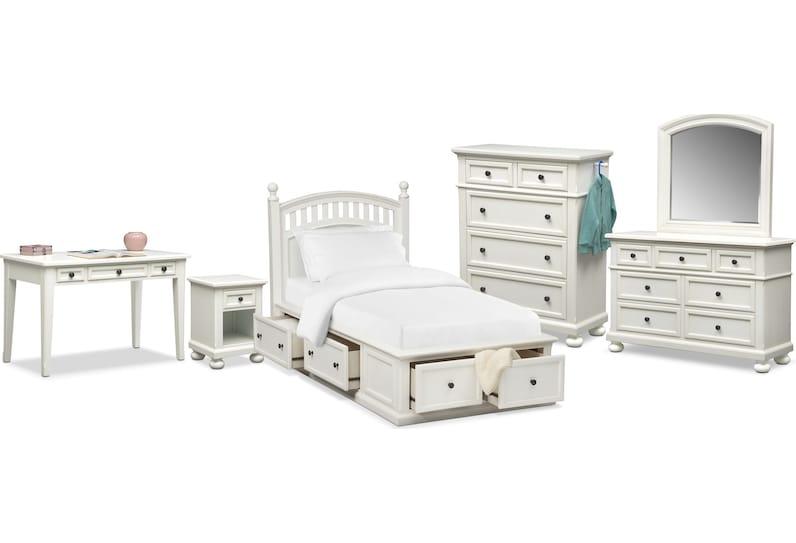hanover youth white bedroom main image