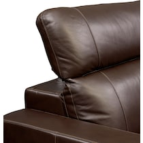 happy dark brown  pc power reclining sofa