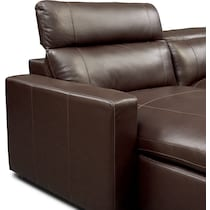 happy dark brown power reclining sectional