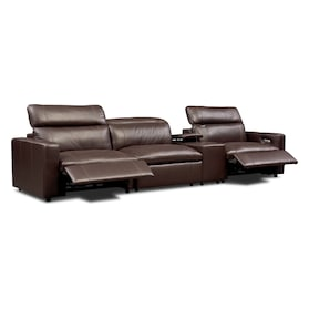 Happy 4-Piece Dual-Power Reclining Sofa with Console