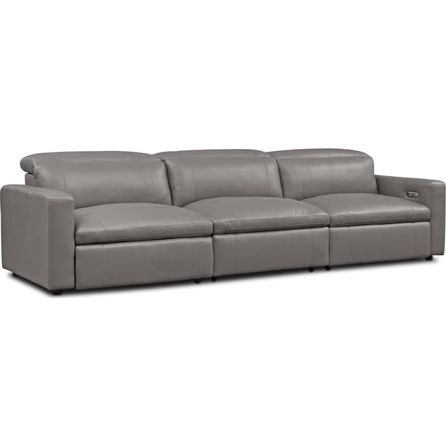 Living Room Furniture - Happy 3-Piece Dual-Power Reclining Sofa