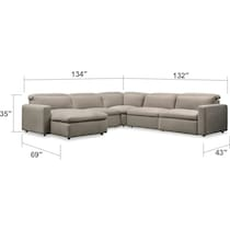 happy white  pc power reclining sectional