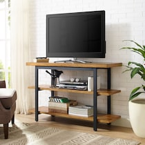 hartford light brown tv console