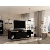 harvard black tv stand