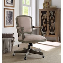 hayley light brown office chair
