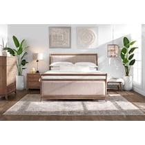hazel light brown  pc queen storage bedroom