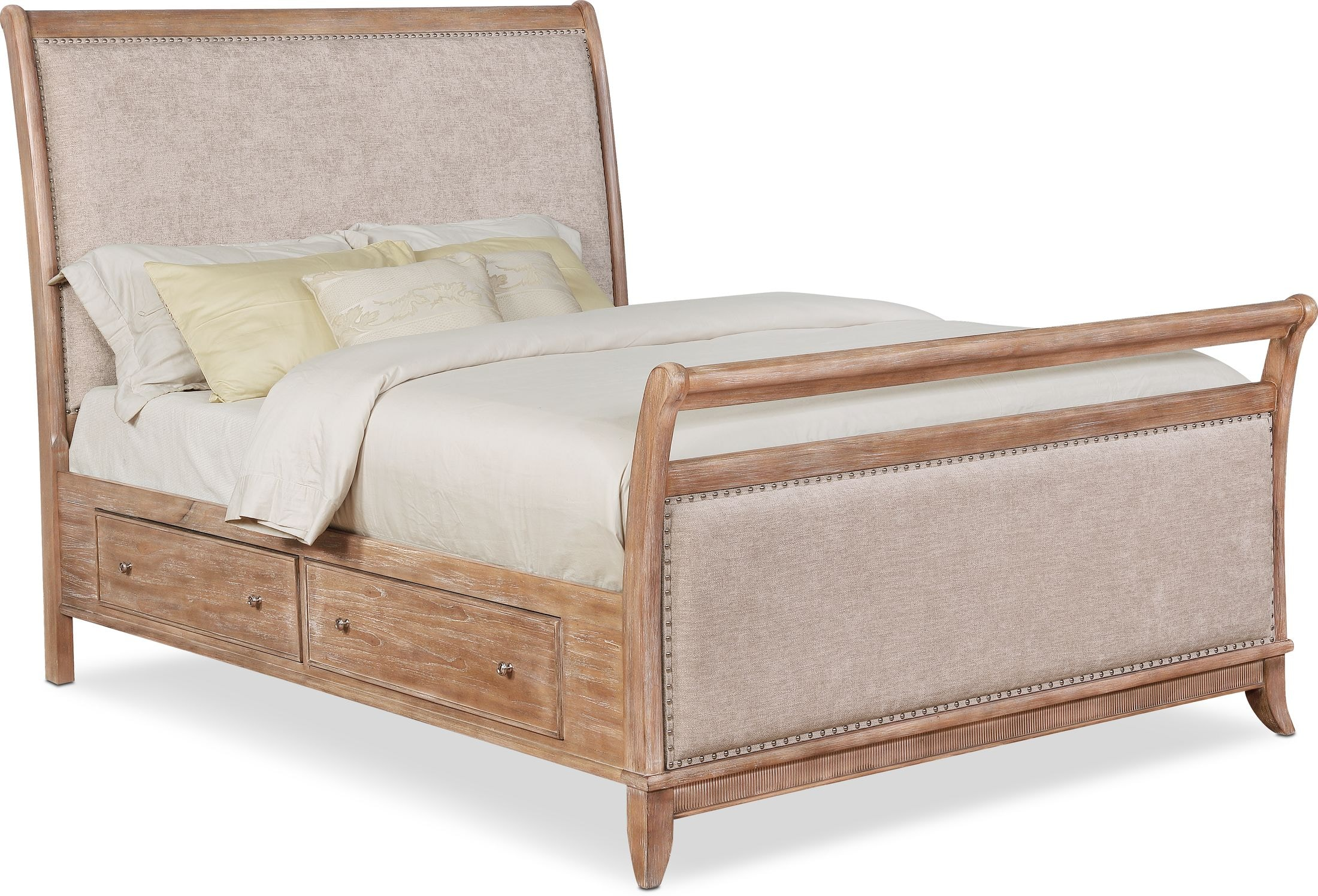 Bedroom Furniture - Hazel Upholstered Storage Bed