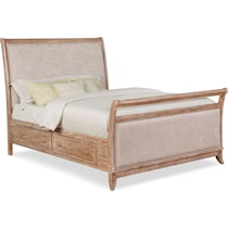 hazel light brown king storage bed
