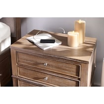 hazel light brown nightstand