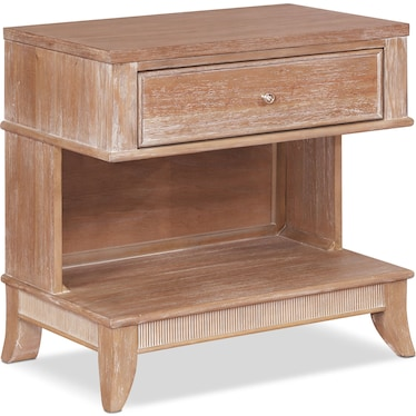 Hazel 1-Drawer Nightstand - Latte