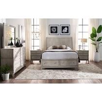 hazel white  pc king storage bedroom
