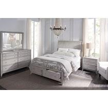 hazel white  pc queen storage bedroom
