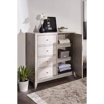 hazel white door chest
