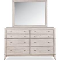 hazel white dresser & mirror