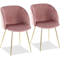 hermione pink dining chair