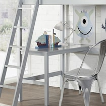 hudson gray twin loft bed with desk
