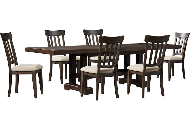 hughes dark brown  pc dining room