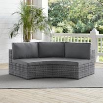 huntington gray outdoor sofa
