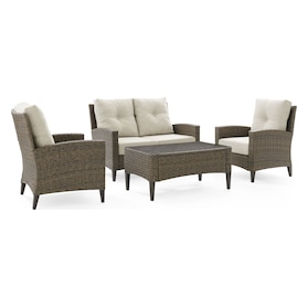Huron Outdoor Loveseat, Set of 2 Chairs and Coffee Table
