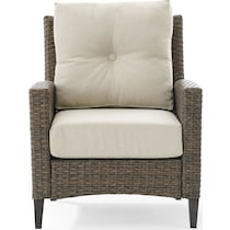 huron light brown outdoor chair