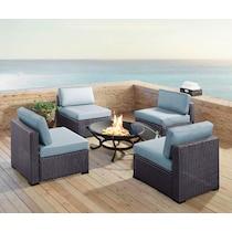 isla blue outdoor chair set