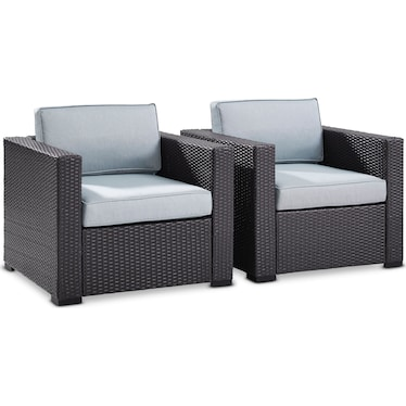 Isla Set of 2 Outdoor Chairs - Mist