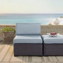 isla blue outdoor chair