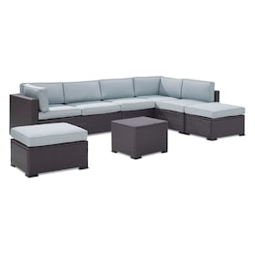 Isla 3-Piece Outdoor Sectional, Coffee Table, and 2 Ottomans Set