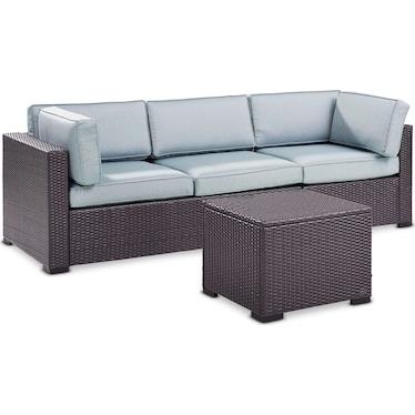 Isla 2-Piece Outdoor Sofa and Coffee Table Set