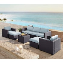 isla blue outdoor sofa set