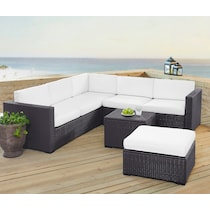 isla white outdoor sectional set