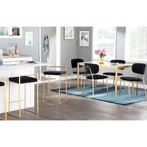 ivy black dining chair