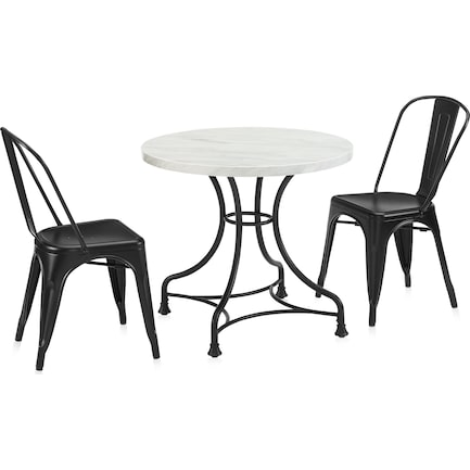 """Izzy 32"""" Table and 2 Tori Chairs"""