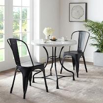 izzy black  pc dining set