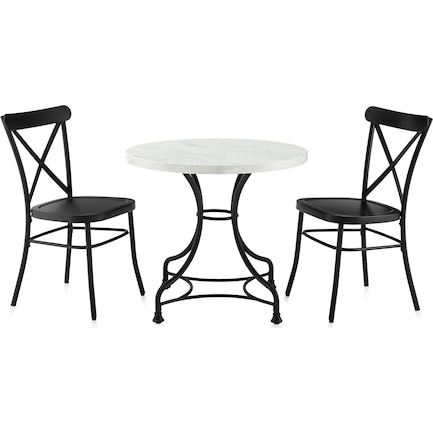 """Izzy 32"""" Table and 2 Lex Chairs"""