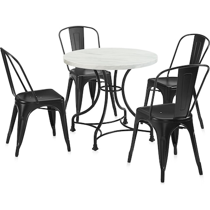 """Izzy 32"""" Table and 4 Tori Chairs"""