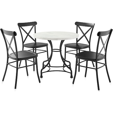 """Izzy 32"""" Table and 4 Lex Chairs"""