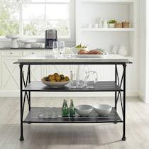 izzy black kitchen island