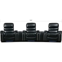 jackson black  pc power home theater sectional