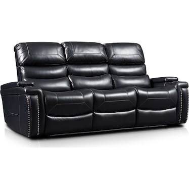 Jackson Triple-Power Reclining Sofa - Black