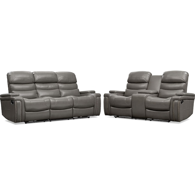 Living Room Furniture - Jackson Manual Reclining Sofa and Loveseat Set