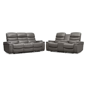 Jackson Triple-Power Reclining Sofa and Loveseat Set