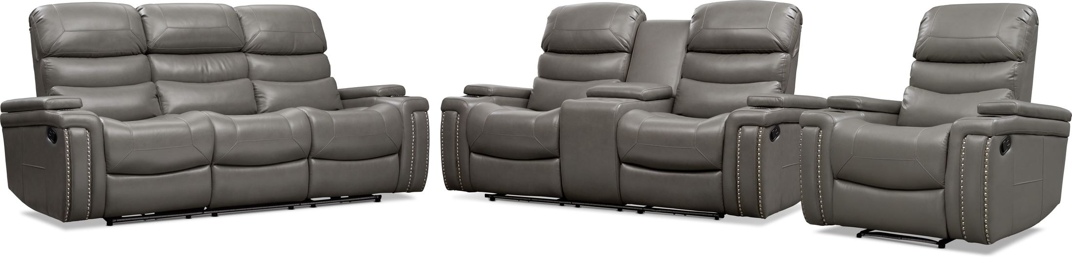 Living Room Furniture - Jackson Manual Reclining Sofa, Loveseat, and Recliner