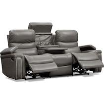jackson gray manual reclining sofa