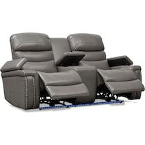 jackson gray power reclining loveseat