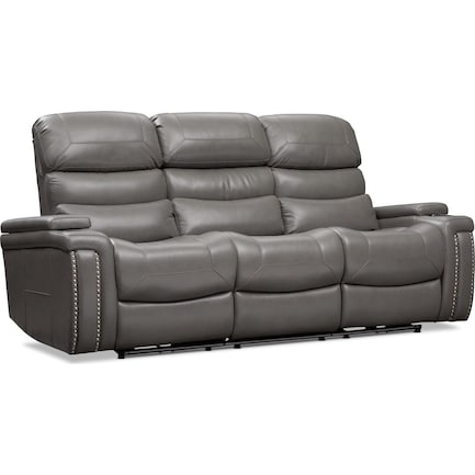 Jackson Triple-Power Reclining Sofa - Gray
